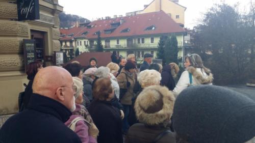 Senioři z Družce v Praze 8. 12. 2014
