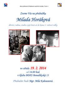 thumbnail of Přednáška Milada Horáková