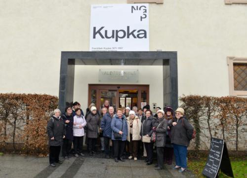 Komentovaná prohlídka výstavy Kupka 1871-1957 ve Valdštejnské jízdárně (foto Jaroslav Tatek) - 7. 1. 2019
